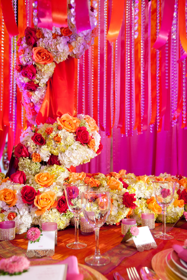Mehendi inspired photo shoot marigold events for Indian home wedding decorations
